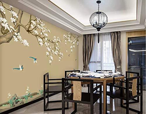 HONGYUANZHANG Individuelle Chinesische Blume Und Vogel Custom 3D Photo Wallpaper Künstlerische Landschaft Tv Hintergrundbild,140Inch (H) X 172Inch (W)