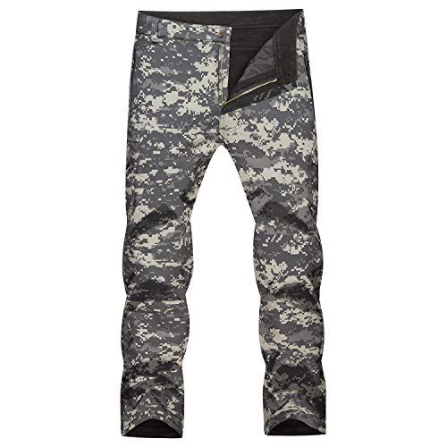 MAGCOMSEN Military Pants Men Army Pants Fleece Lined Pants Snow Pants Camouflage Tactical Pants