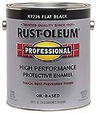RUST-OLEUM K7776-402 K7776402 High Performance Oil Based Rust Preventive Protective Enamel Paint, 128 Fl Oz (Pack of 1), Blacks Flat Black