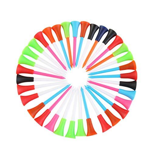 BESPORTBLE Kunststoff-Golf-T-Shirts 85 Mm Professionelle Golf-T-Shirts mit Gummikissenoberteil für Outdoor-Sportgolfzubehör 100 Stück (Zufällige Farbe)