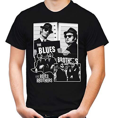 Blues Brothers Männer und Herren T-Shirt   Dan Aykroyd Film   M2 (XL, Schwarz)