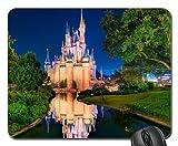 N / A Ultra Mince Gaming Mousepad Tapis Souris Mousepad,Disney World,Tapis De Souris du Château De Cendrillon,Tapis De Souris...