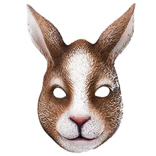 SOIMISS Ostern Dekorative Maske Maskerade Kaninchen Maske Hasenmaske Cosplay Kostüm Maske Erwachsenen Tier Maske Gemischte Farbe
