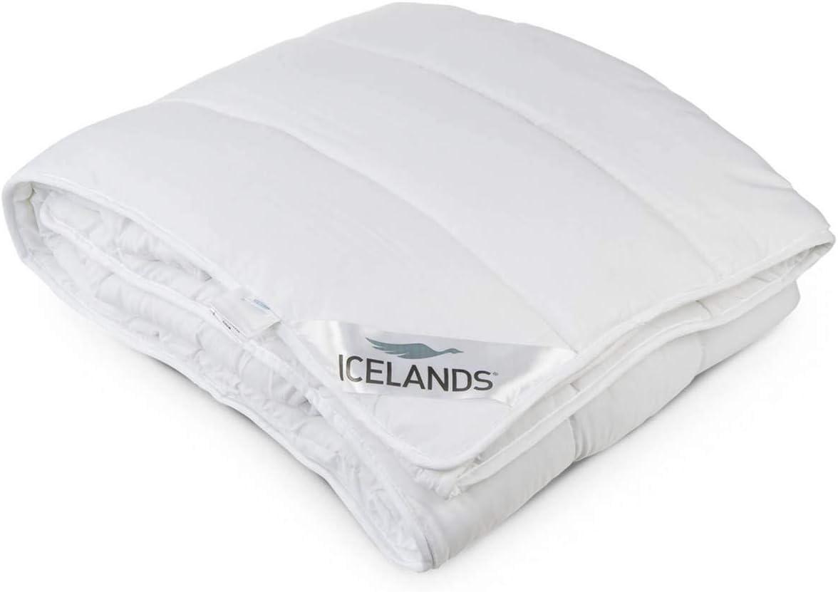 Icelands 260x240 cm Edred/ón N/órdico B/áltico mullido efecto plum/ón 380 gr//m2,