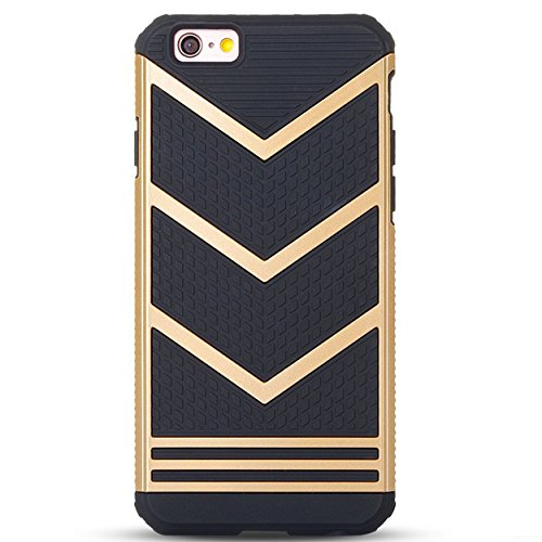 Ailun Phone Case Compatible with iPhone 6s Plus 6 Plus Slip Proof Rugged Bumper Non Gap Fit Shock Absorption Anti Scratch Fingerprint Oil Stain Protective Stylish Ultra Slim Back Cover Gold Black