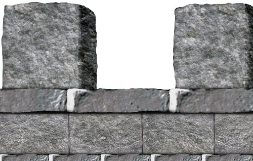 Stone Wall Border Party Accessory (1 count) (1/Pkg)