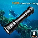 Odepro WD43 1050 Lumen Wieder aufladbare Tauchlampen mit Magnetschalter und bis zu 150m Tiefe...