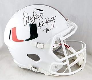 Warren Sapp Signed F/S Miami Hurricanes White Speed Helmet W/Insc- Beckett Auth