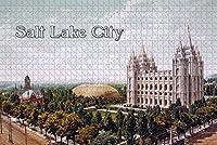 大人のためのジグソーパズル1000ピースソルトレイクシティテンプルスクエアUSA旅行のお土産