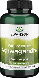 Swanson Premium Ashwagandha Powder Supplement: 450 MG Ashwagandha Root Dried Powder - Pure Ashwagandha Supplements for Str...