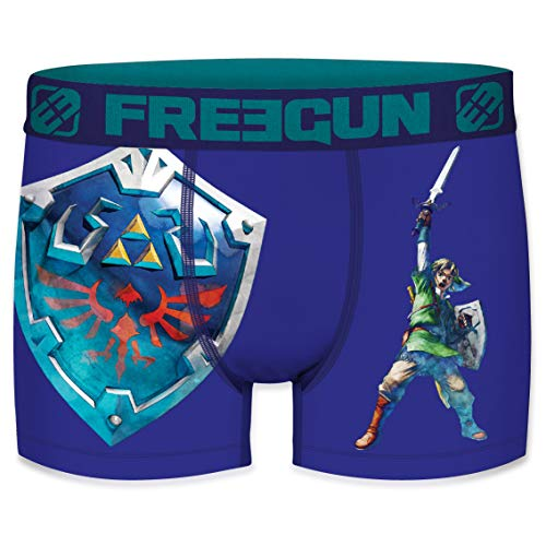 FREEGUN The Legend of Zelda Herren Boxershorts 1er Pack Nintendo Hyrule Link Triforce Meisterschwert Druck ohne Eingriff S M L XL XXL, Größe:XL, Farbe:Motiv 3