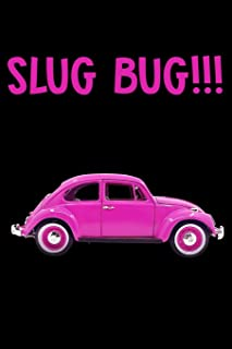 Journal: Slug Bug Classic Car Game Automobile Beetle Vintage Black Lined Notebook Writing Diary - 120 Pages 6 x 9