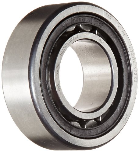 FAG NJ2207E-TVP2-C3 Cylindrical Roller Bearing, Single Row, Straight Bore, Removable Inner Ring, Flanged, High Capacity, Polyamide/Nylon Cage, C3 Clearance, Metric, 35mm ID, 72mm OD, 23mm Width