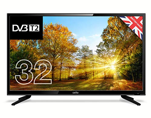 "Cello C32227T2 32"" HD Ready LED TV with built-in Freeview T2 HD – UK Made (Energy Class A)"
