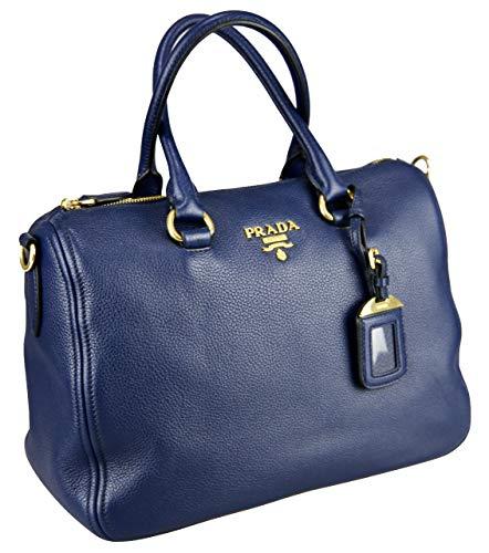 Prada Damen Blau Leder Schultertasche 1BB023
