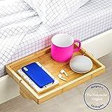 BedShelfie The Original Bedside Shelf - 9 Colors \/ 4 Sizes - The Perfect College Dorm Room Essential (Regular Size, Natural Bamboo)