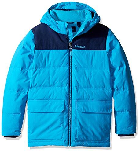Marmot Boys' Rail Jacket (Little Big Kids), Bahama Blue/Arctic Navy, XS (4/5