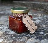 100 X 130ml piccoli barattoli di vetro con coperchi d'oro. Ideale per bomboniere, regali e piccole marmellate, confetture e conserve