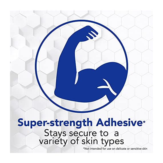 All Health Strong Strips Antibacterial Heavy-Duty Adhesive Bandages, 1 Inch (180 Count) 4 First aid bandages with super-strength adhesive stay in place on most skin types Antibacterial bandage kills bacteria to help prevent infection Non-stick pad cushions and helps protect minor cuts, scrapes, and wounds