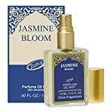 Jasmine Bloom Perfume Oil Mist (no alcohol spray) - Natural Organic Essential Oils and Hypoallergenic Vegan Perfumes for Women and Men by Zoha Fragrances, 15 ml / 0.50 fl Oz