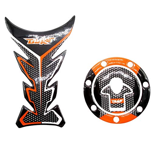 Motorrad Kraftstofftankdeckel Pad Protector Aufkleber Aufkleber Motor Tankdeckel Dekorative Aufkleber for KTM Duke 125 200 390 (Color : Universal)