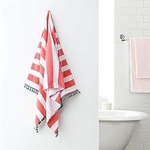 "Dreamaker Sherwood 100% Cotton Beach Towel Thick Bath Towel Beach Wrap Camping Blanket 30"" x 63"""