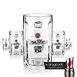 6 x König Pilsener Glas Gläser 0,5l Glückauf Seidel Bierglas Gastro Bar Deko NEU + anygoods...
