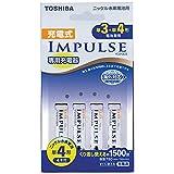 TOSHIBA 充電式IMPULSE 充電器セット 単3形・単4形兼用モデル 単4形(min.750mAh)4本付き TNHC-44AH