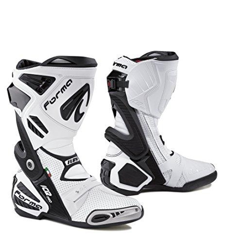 FORMA Stivali Moto Ice PRO Flow Certificazione di Approvazione, Bianco, 47