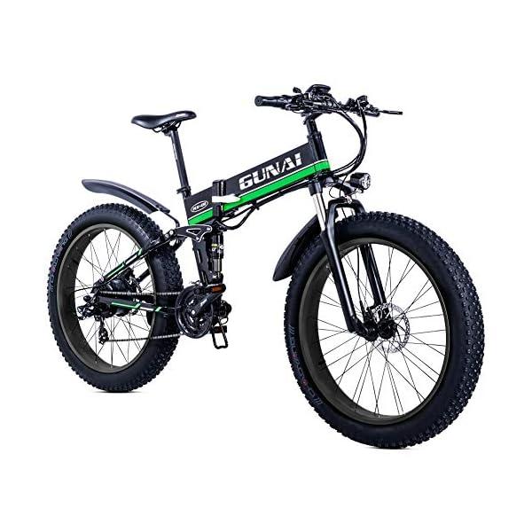 51vgvmuqNZL. SS600  - GUNAI Fettreifen Fahrrad 26 Zoll Elektro Fahrrad 1000 Watt 48 V Schnee e-Bike 21 Geschwindigkeiten Llithium Batterie Hydraulische Scheibenbremsen Mountain E-Bike für Erwachsene