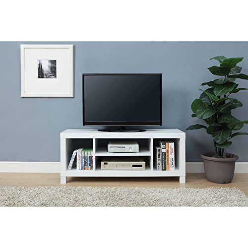 """Mainstay.. TV Stand for TVs up to 42"""", Dimension: 47.24 x 15.75 x 19.09 Inches (White)"""