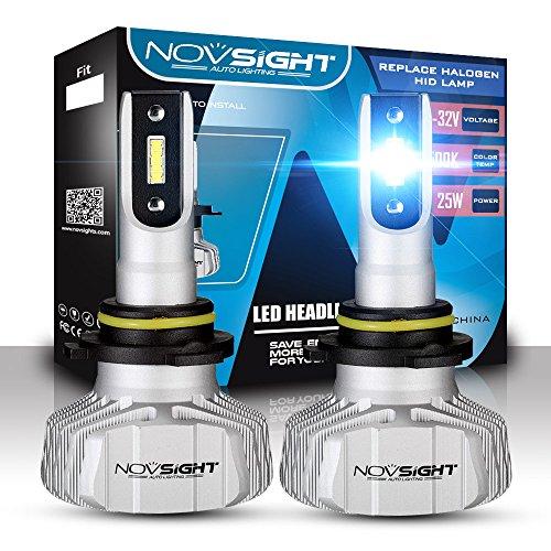Phare De Voiture De LED Kit De Conversion, CSP Chips Super Lumineux 10000LM 50W Phare Extérieur 6500 Cool White,9006