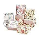 PH Pandahall 30 Pack Soap Packaging Box 5 Style Flower DIY Handmade Soap Holder Candy Chocolate...