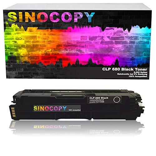 SinoCopy XXL Black Toner für Samsung CLP-680 BK 6.000 S,Color je 3.500 S, kompatibel zu Samsung CLP-680 DW ND Series CLX-6260 FD FR FW ND - CLT-K506L C506L M506L Y506L