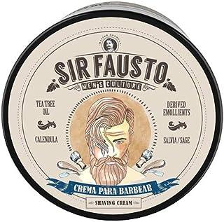 Sir Fausto Crema Para Barbear- Crema de Afeitar Clásica - Enriquecida con Caléndula & Salvia & Árbol de Te 200ML