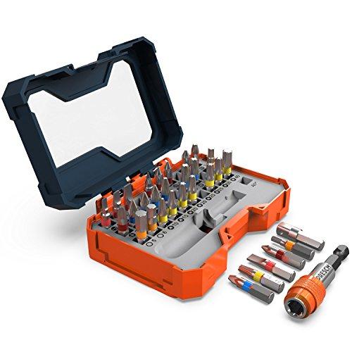 Presch juego caja 32 puntas - puntas magnéticas con soporte de cambio rápido - para destornillador eléctrico
