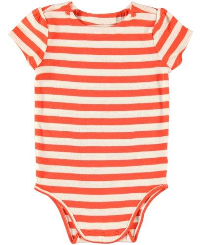 OshKosh B'Gosh Striped Knit Bodysuit (Baby) - Tangerine-6 Months