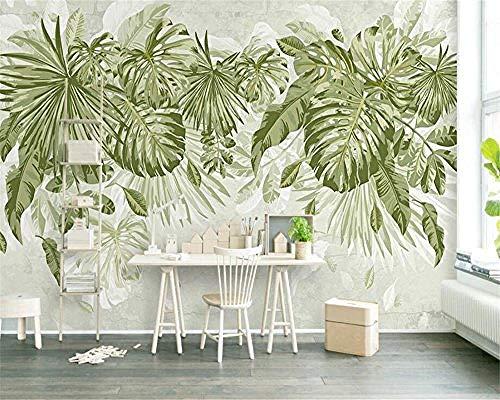 Aquarell Green Leafy Plant Jungle Plant Series Anpassen 3D Wallpaper Kunstdruck Wandmalerei Hd Print Poster Bild Gr wandpapier fototapete 3d effekt tapete tapeten Wohnzimmer Schlafzimmer-400cm×280cm