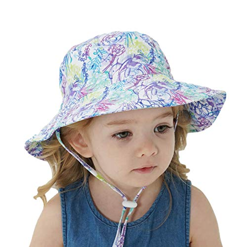 sweetlife Baby Sun Hat Cotton, Toddler UPF 50+ Sunscreen Beach Fisherman Hat Bambini Boys And Girls Wide Brim Summer Play Hat