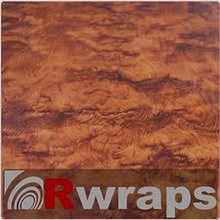 Burlwood (Honey) Wood Grain Film Vinyl Sheet Roll Wrap - 12