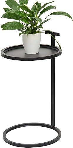 artículos de promoción BJYG Mesa Plegable Mesa rojoonda de Metal con sofá Lateral Lateral Lateral Se Puede Mover Disponible en Dos Colors 41  70 cm (Color  negro)  entrega gratis