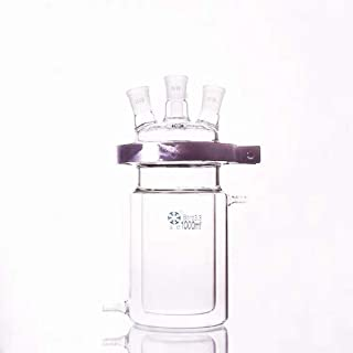 1000ml laboratory glass reactor, open jacket double-layer reaction flask (24/24/24 three-port joint)