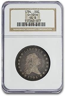 1794 Flowing Hair Half Dollar VG-8 NGC Half Dollar VG-8 NGC