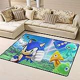 Zmacdk Sonic Force - Alfombra de área grande para sala de estar (180 x 210 cm), base antideslizante para jardín de infantes (180 x 210 cm), Sonic Tails (personaje) nudillos