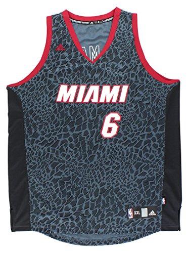 LeBron James Miami Heat #6 Adidas Black Crazy Light Fashion Swingman Jersey (2X)