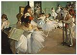 Panorama Póster Edgar Degas La Clase de Danza 21x30 cm - Impreso en Papel de 250gr - Póster Pared - Láminas para Enmarcar - Cuadros Decoración Salón - Pósters Decorativos - Cuadros Modernos