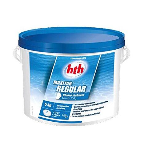 Hth Régular - Chlore Lent stabilisé Piscine - 5kg (Galet 200g)