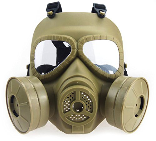 Myheartgoon Airsoft Paintbal Dummy Gas Mask Fan for Cosplay...