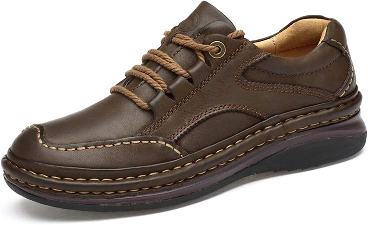 Men's shoes,Winter,Leather,High-Top shoes,Comfort Walking shoes,Formal Business Work,Office & Career Party & Evening, Lace-up shoes (color   A, Size   40)