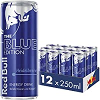 Red Bull Energy Drink Heidelbeere Dosen Getränke Blue Edition 12er Palette, EINWEG (12 x 250 ml)